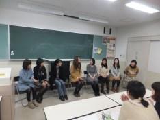 2013年度2月、教育実習を終えた学生たちによる集団報告会