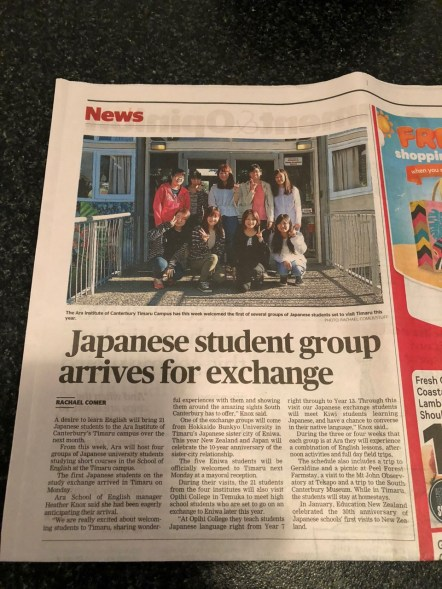 Our newspaper article