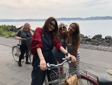 Cycling round the island