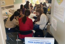 Photo of Peer Support Team helping our new students