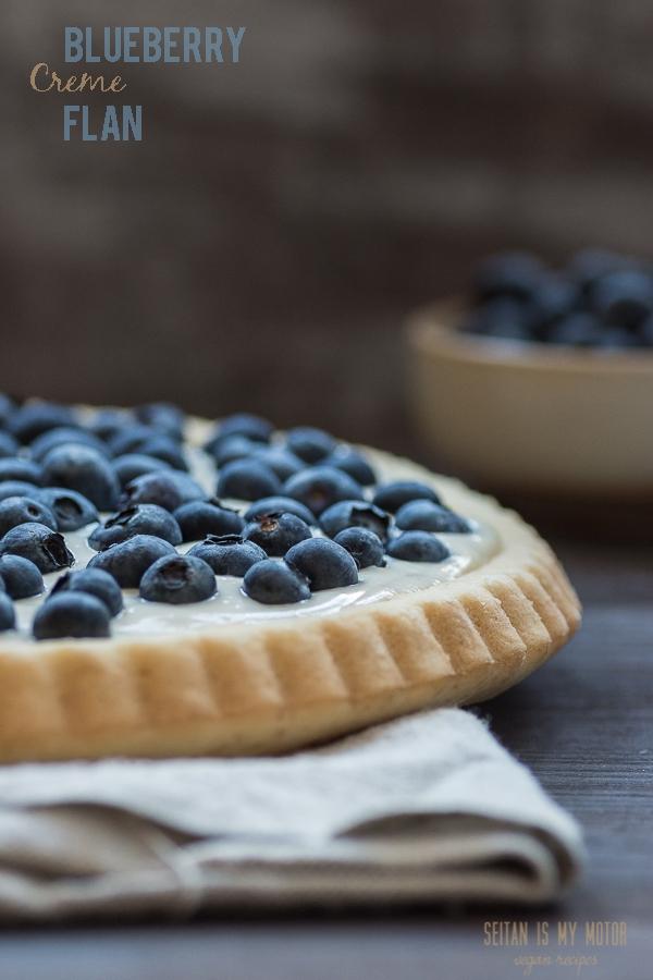 Blueberry Creme Flan | www.seitanismymotor.com