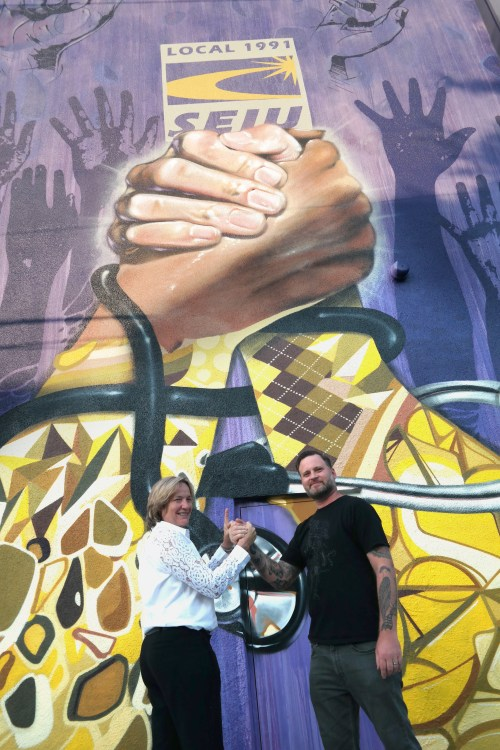 Martha with Mural Artist Alex Vahan