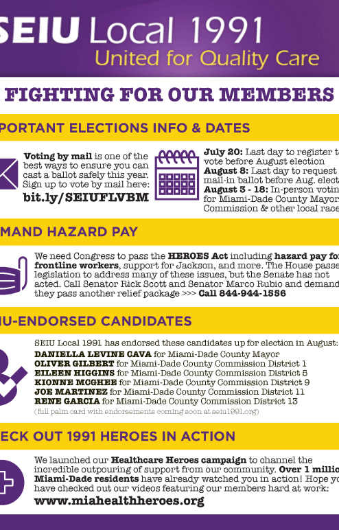 SEIU 1991 Political One Pager August Elections Final
