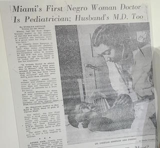 Photo, WLRN // Newspaper clipping shown in the Black Archives