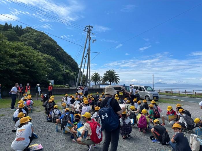 宇和町小5年生のジオ学習(2021年7月2日)