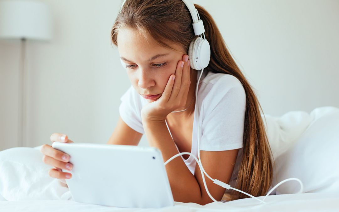 Canva - Pre Teen Girl Using Tablet Pc