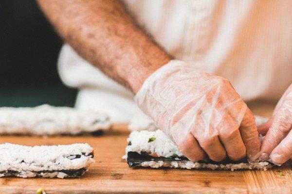 chef, food, sushi