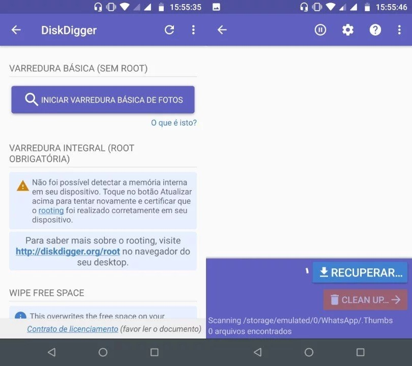 Como recuperar fotos e arquivos apagados no Android? 2