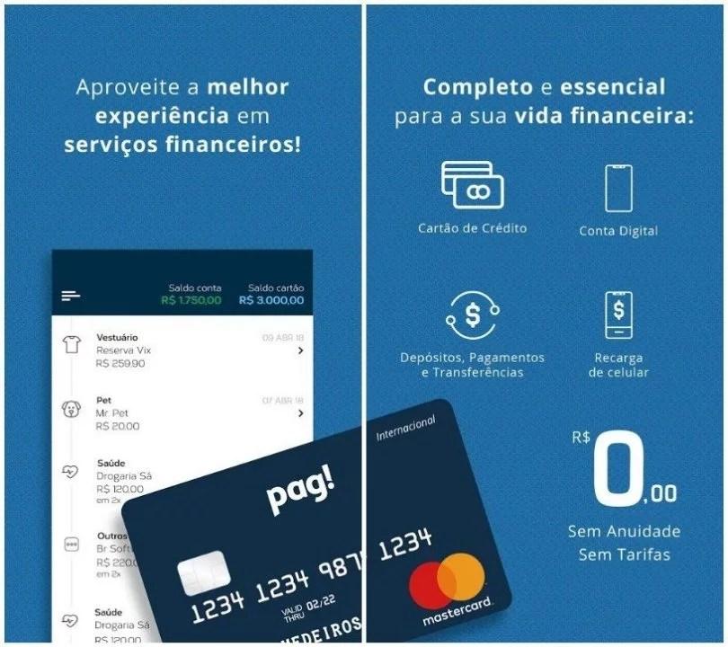Pag! Cartão de Crédito e Débito 1