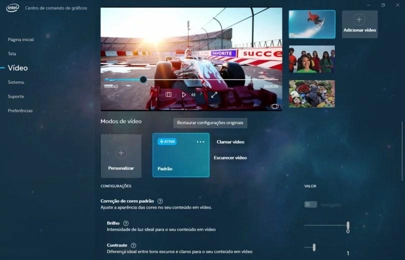 Painel Gráfico da Intel ganha atualização no Windows 3