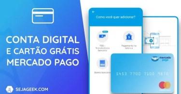 Conta Digital Mercado Pago com Cartão Mastercard grátis