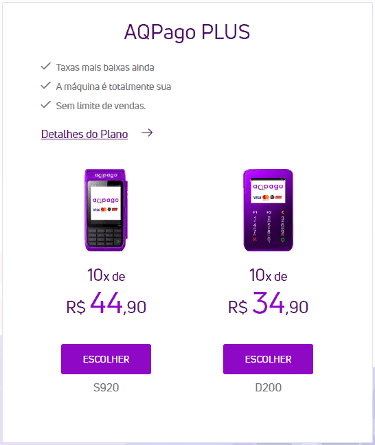 Plano AQPago Plus
