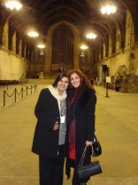 Enjoying a tour of the House of Commons with my mum