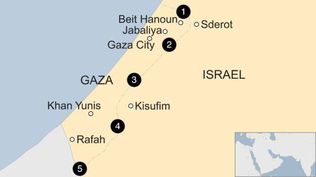Mapa pokazjące punkty w których odbyły się protesty