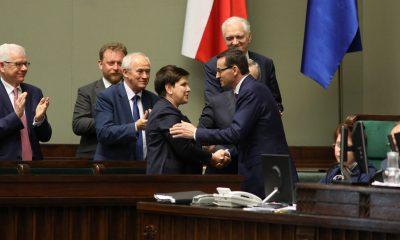 Beata Szydło, Mateusz Morawiecki/fot. Rafał Zambrzycki/Kancelaria Sejmu