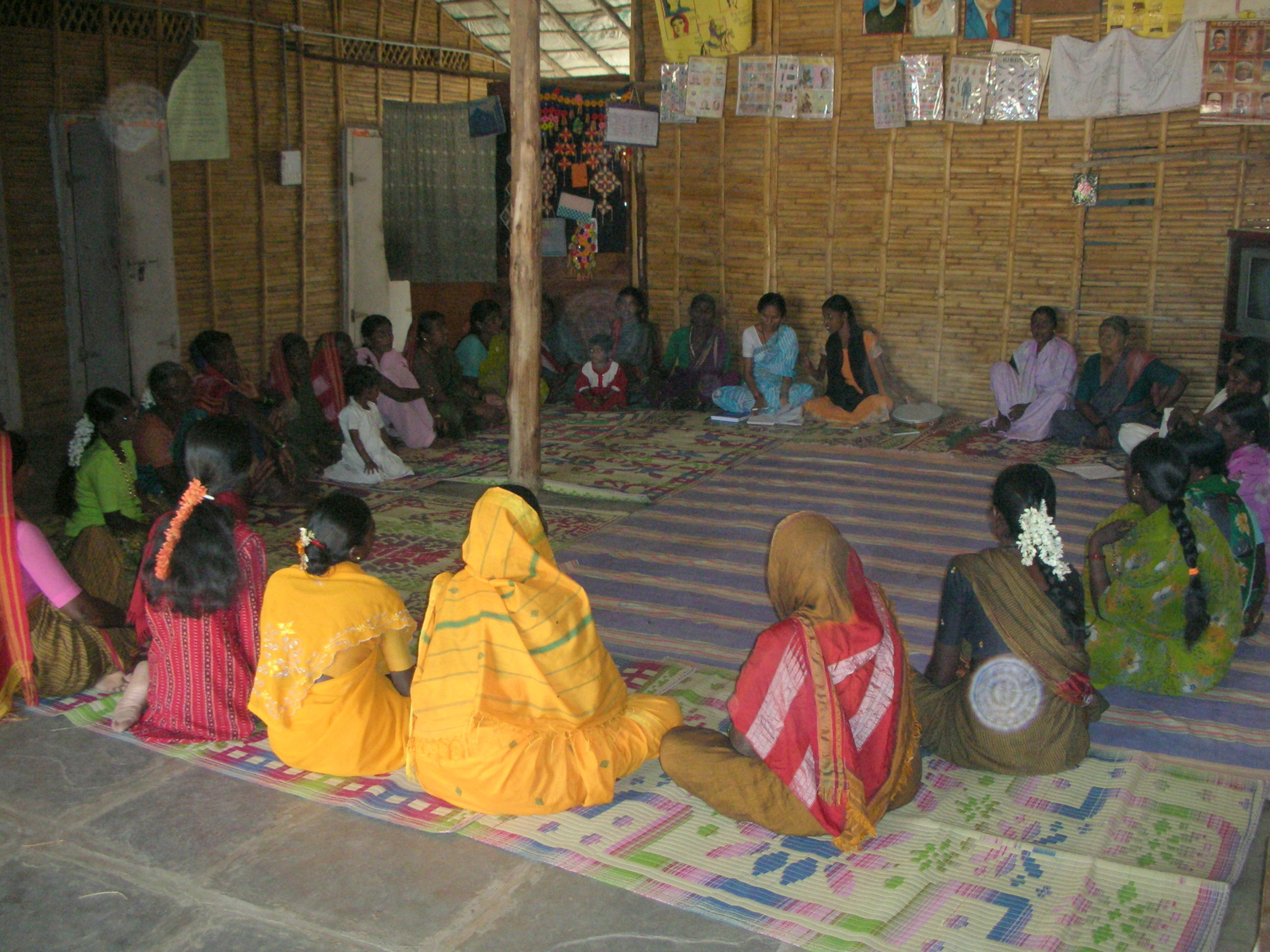 Weekly meeting with Women's SHGs