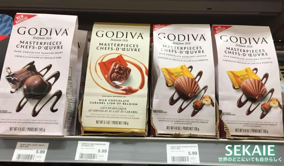 GODIVA、チョコレート