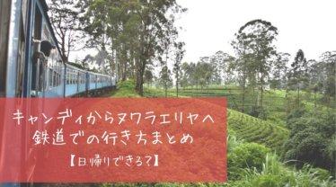 キャンディからヌワラエリヤは鉄道で日帰り可能?チケット予約や時間まとめ【スリランカ】