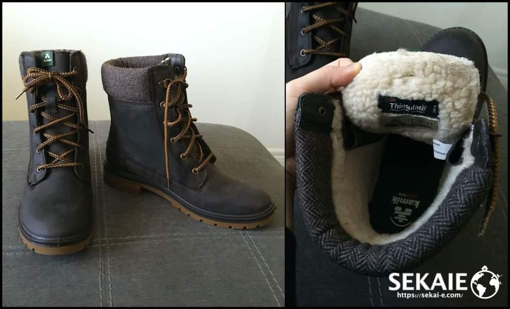 カナダ、冬の靴、ウィンターブーツ、スノーブーツ、kamik