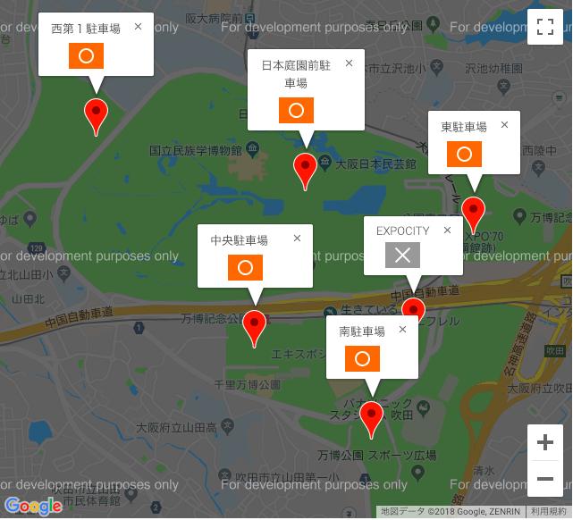 万博記念公園 駐車場地図
