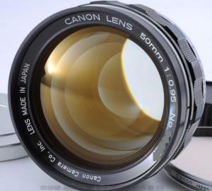 canon 50mm f0.95