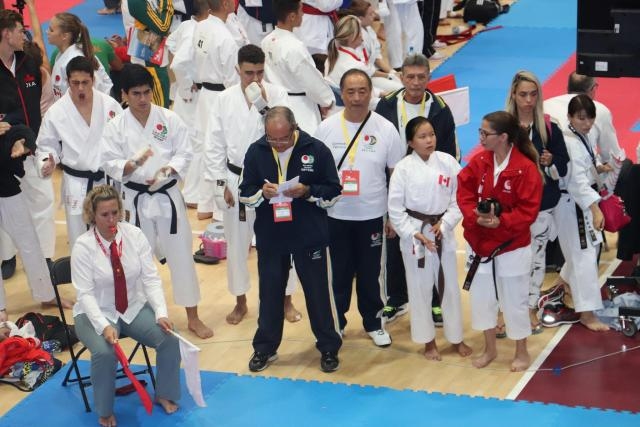 Atletas e Tecnicos da seleção Brasileira de Kumite