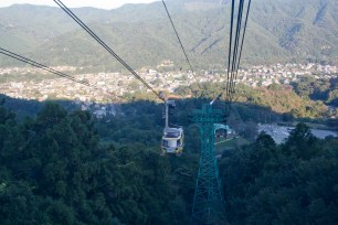 Cable car down the mountain