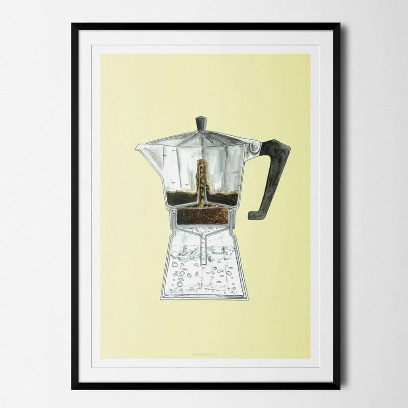 Plakat Moka Pot Kaffe Coffeeprints