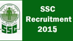 SSC CGL 2015 Notification Online Application Form