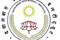 Teaching Recruitment 2015 In Dayalbagh Educational Institute Agra Exam Admit Card