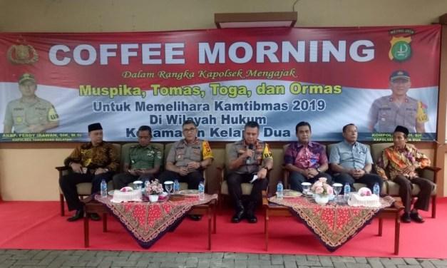 Kapolres Tangsel Hadiri Coffee Morning di Polsek Kelapa Dua