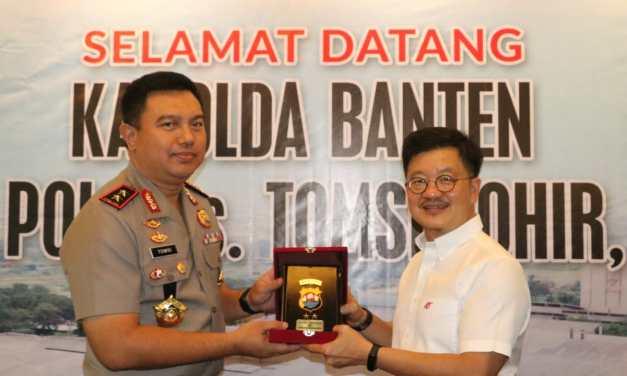Kapolda Banten Tanda Tangani Kerjasama Dengan PT Arwana Citramulia