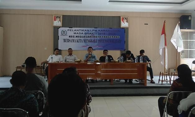Resmi Dilantik, LPM Karang Sari Siap Dorong Program Pemkot Tangerang
