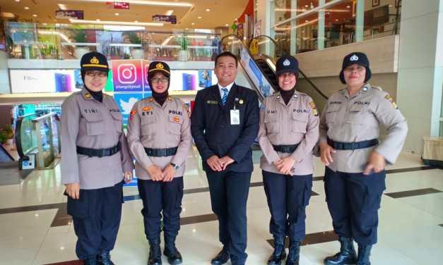 Antisipasi Guantibmas, Polwan Restro Tangerang Kota Laksanakan Pengamanan Mall