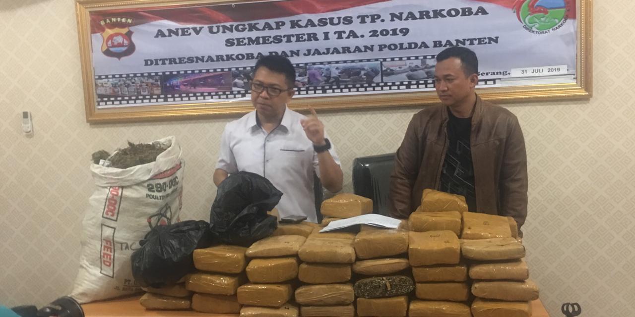 Ditresnarkoba Polda Banten, Amankan 100 Kg Ganja di Dalam Septic Tank