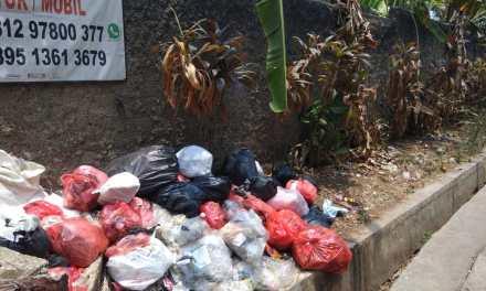 Warga Benda Baru Keluhkan Tumpukan Sampah di Pinggir Jalan Dekat Makam