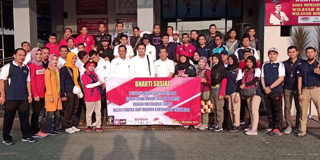 Rombongan Kemenkumham Banten Gelar Baksos di Baduy