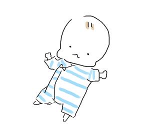 夏のコンビ肌着の赤ちゃん