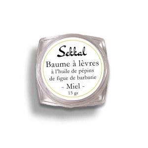 Baume à lèvres huile de pépins de figue de barbarie Miel