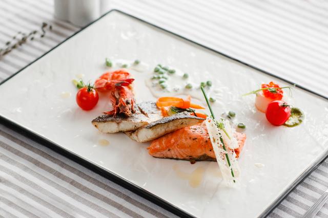 Seafood Serving Creative Cuisine Mediterranean Gourmet Delicatessen Food Restaurant Concept