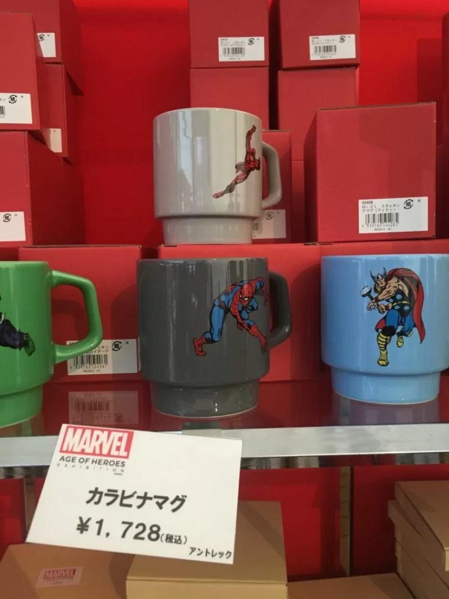 マーベル展ショップマグカップスパイダーマン