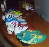 Donated football boots