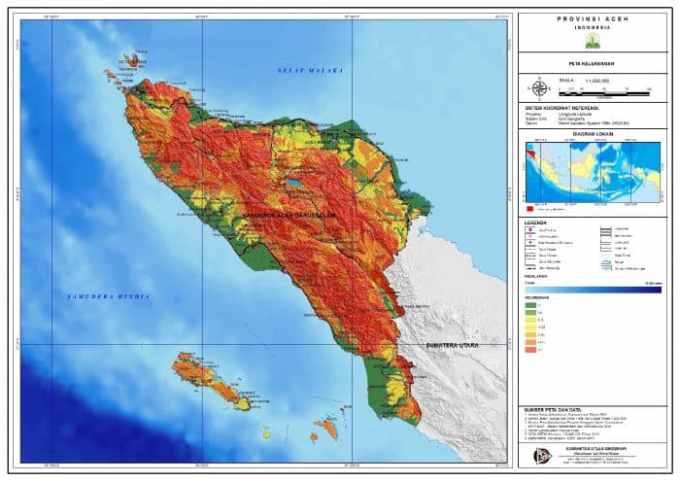 PenjelasanPeta Aceh