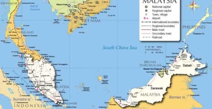 Peta Malaysia beserta wilayah, iklim, dan kekayaan alam (Terlengkap) 1