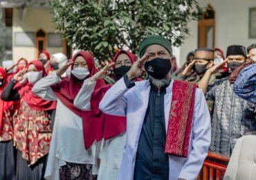 Ponpes Dzikir Al Fath melaksanakan Upacara Bendera Kemerdekaan Indonesia ke 75