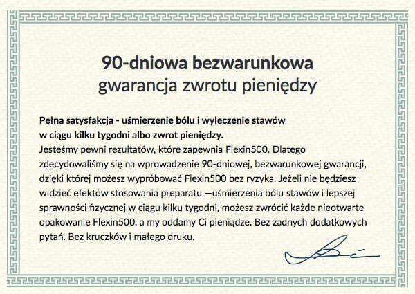 Flexin500-gwarancja