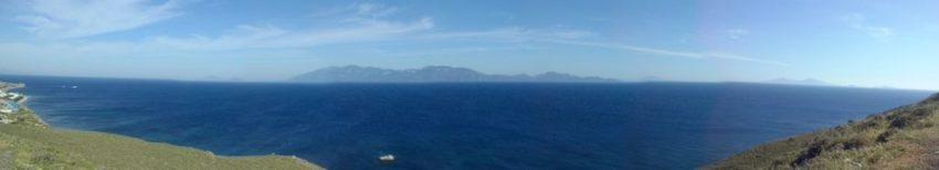 Wyspa Kos panorama na morze Śródziemne