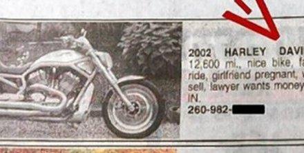 Vriendin zwanger gemaakt, vrouw weet het, moet Harley verkopen