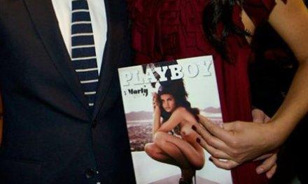 Marly van der Velden naakt in de Playboy