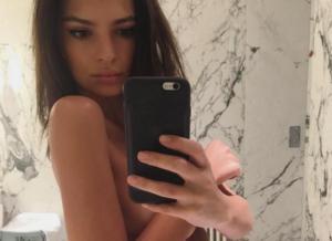 Emily Ratajkowski naakt op Instagram